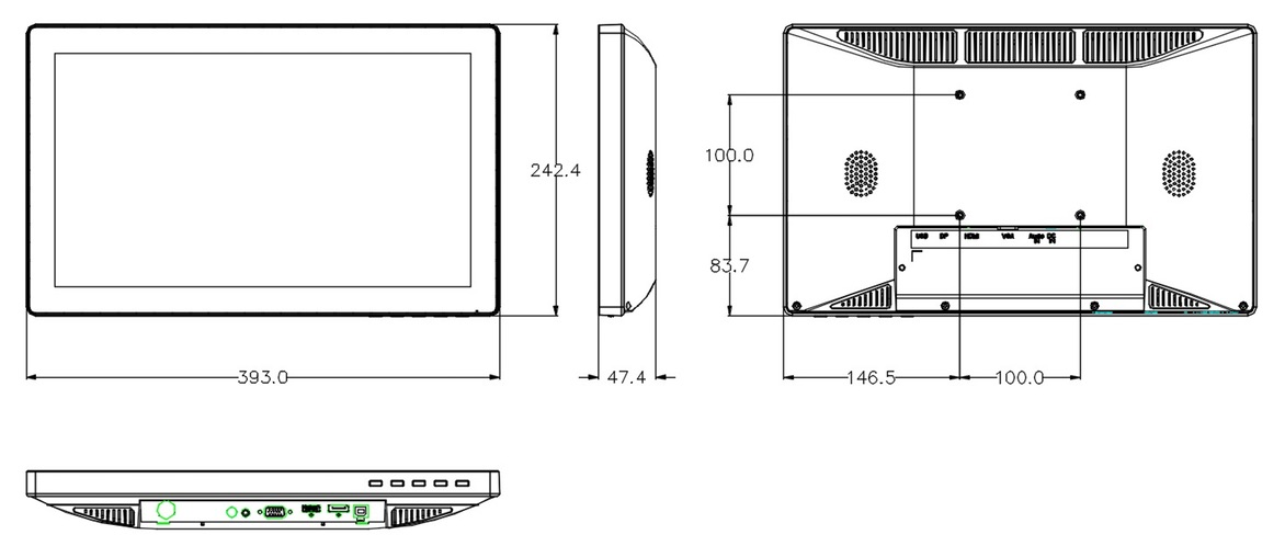 Technical Drawing of MMZBTP-15.6G Series