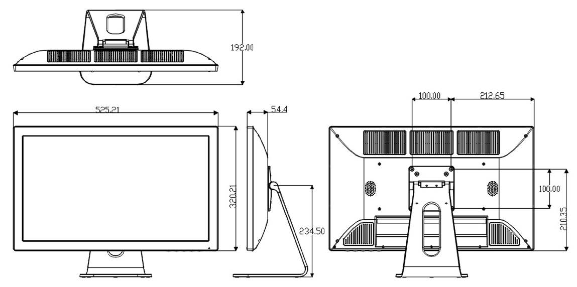 Technical Drawing of VMT-21.5 Series